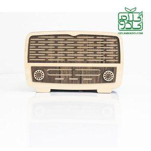 جعبه دستمال کاغذی طرح رادیو کلاسیک